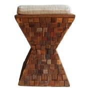 Asian Art Imports Mosaic Wood Stool