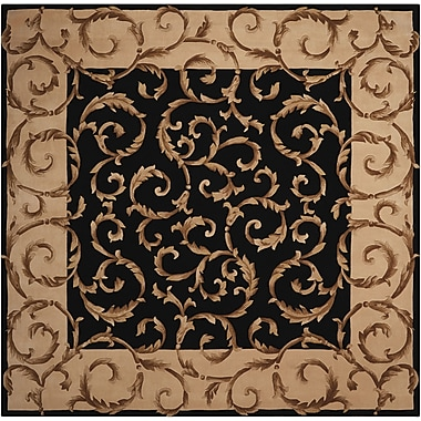 Nourison Versaille Palace Black Rug; Square 8'