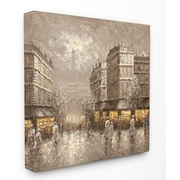 Stupell Industries City of Light w/ Eiffel Tower Painting Print on Canvas; 17'' H x 17'' W x 1.5'' D