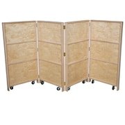 Wood Designs 48''H x 24''W x 9''D (Folded) Mobile Folding Bookcase (990682)