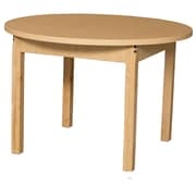 Wood Designs HPL Tables 36'' Round Table 16''H Hardwood Legs (HPL36RND16)