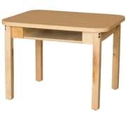 Wood Designs HPL Desks 18''D x 24''W Rectangle Desk 16'' H Hardwood Legs (HPL1824DSK16)