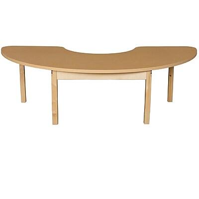 Wood Designs HPL Tables 22''D x 64''W Half Circle Table 14''H Hardwood Legs (HPL2264HCRC14)