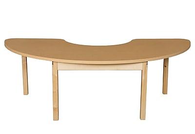 Wood Designs HPL Tables 22''D x 64''W Half Circle Table 24''H Hardwood Legs (HPL2264HCRC24)