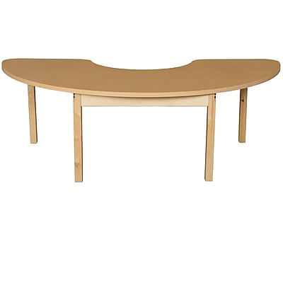 Wood Designs HPL Tables 24''D x 76''W Half Circle Table 22''H Hardwood Legs (HPL2476HCRC22)