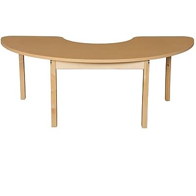 Wood Designs HPL Tables 24''D x 76''W Half Circle Table 26''H Hardwood Legs (HPL2476HCRC26)