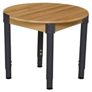 Wood Designs 30'' Round Birch Hardwood Tables 18''-29''H Adjustable Legs (830A1829)