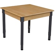 Wood Designs 30'' Square Birch Hardwood Tables 18''-29''H Adjustable Legs (833A1829)