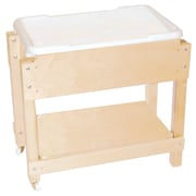 Wood Designs 24''H x 28''W x 15''D Mobile Petite Sand and Water Table with Lid/Shelf (11811)