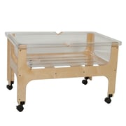 Wood Designs 25''H x 27''W x 41''D Mobile Deluxe Sand and Water Table without Lid(11866)