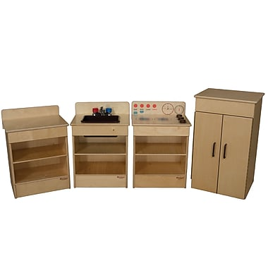 Wood Designs Toddler Size Kitchen Appliances Set Of 4 With Brown Accents 20000bn Staples