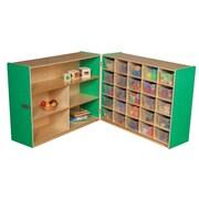 Wood Designs 38''H x 48''W x 30''D Mobile Half & Half Storage with 25 Translucent Trays (23631G)