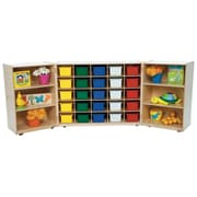 Wood Designs 38''H x 96''W x 15''D Mobile 25 Tri-Fold Storage with Assorted Trays (25503)
