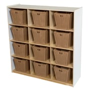 Wood Designs 49''H x 48''W x 15''D Big Cubby White Storage with 12 Baskets (50912WHT-719)