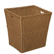 Wood Designs Large Size-14.5''H x 12''W x 13.5''D Plastic Wicker Basket  Set of 4 (72004)