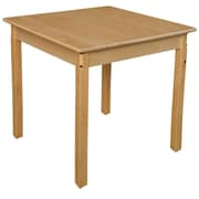 Wood Designs 30'' Square Birch Hardwood Tables 29''H Hardwood Legs (83329)