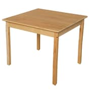 Wood Designs 36'' Square Birch Hardwood Tables 29''H Hardwood Legs (83729)
