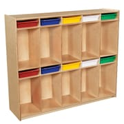 Wood Designs 49''H x 58''W x 15''D Space-Saving Ten Section Locker with Assorted Trays (990314AT)