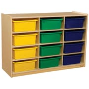 Wood Designs 29.06''H x 42''W x 15''D Cubby Shelves with Assorted Trays (990315AT)