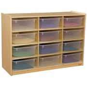 Wood Designs 29.06''H x 42''W x 15''D Cubby Shelves with Translucent Trays(990315CT)