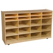 Wood Designs 30''H x 48''W x 15''D Mobile Multi Bin Storage (990330)