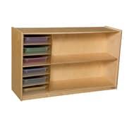 Wood Designs 30''H x 48''W x 15''D Mobile Shelf Storage with Translucent Trays (990331CT)