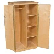 Wood Designs 61''H x 31''W x 26''D Mobile Teacher's Cabinet (990525)