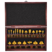 Pro-Series 20 Piece Router Bit Set in Wood Box (300396)