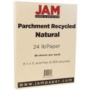 """JAM Paper® 8 1/2"""" x 11"""" Parchment Paper, Natural Parchment, 24lb Recycled, 50/Pack (96600600A)"""