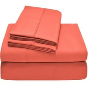 Bare Home Premium Ultra Soft Twin XL Sheet Set; Coral