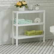 New Ridge Home Goods Beaumont Solid Birch Wood 3-Shelf Console / Shoe Rack; Pure White