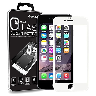 """""""""""BasAcc White Frame Full Coverage (3D Curved) Tempered Glass Protector for iPhone 6s 6 4.7"""""""""""""""" (Shatter-Proof) (2171899)"""""""""""" 2430767"""