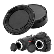 Insten Rear Lens Cover Cap + Camera Body Cap for Nikon D-Series D3000 DSLR D300S D7000 (2090052)