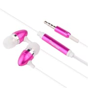 Insten Universal 3.5mm In-Ear Stereo Headset w/ On-off Mic Hot Pink For Samsung Galaxy Note 4 HTC LG Nokia Motorola (241525)
