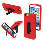 Insten Symbiosis Stylish Stand Hybrid Hard Shockproof Cover Case Protective For iPhone 6 6S - Black/Red (1934342)