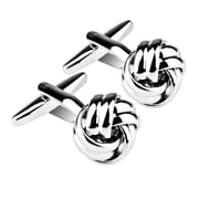 Zodaca Men Cufflinks Business Shirt Cuff Link Links Stainless Steel Gift- Silver/Twist (1852929)
