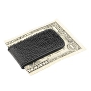 Zodaca Genuine Leather Magnetic Slim Pocket Money Clip Holder - Black (1989140)