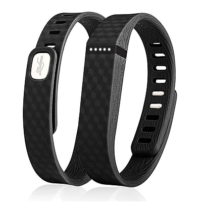 Zodaca 3D TPU Wristband Replacement Small Band Bracelet Wireless Activity Tracker Clasp for Fitbit Flex Black 2127075