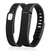 Zodaca 3D TPU Wristband Replacement Small Band Bracelet Wireless Activity Tracker Clasp for Fitbit Flex Black (2127075)