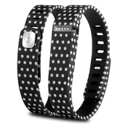Zodaca 3D TPU Wristband Replacement Large Bracelet Wireless Activity Tracker Clasp for Fitbit Flex Black Polka dot (2127070)