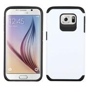 Insten Hard Dual Layer Rubber Silicone Case For Samsung Galaxy S6 - White/Black (2092083)