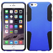 "Insten Mesh Hard Hybrid Shockproof Plastic Silicone Case For iPhone 6 Plus / 6S Plus 5.5"" - Dark Blue/Black (1951700)"