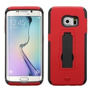 Insten Symbiosis Skin Hybrid Rubber Hard Cover Case with Stand For Samsung Galaxy S6 Edge - Red/Black (2107701)