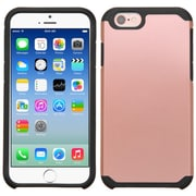 Insten Ultra Thin Dual Layer Hybrid Shockproof Hard PC/Silicone Case For iPhone 6/6s - Rose Gold/Black (2177123)