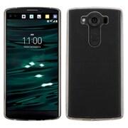 Insten TPU Rubber Skin Case For LG V10 - Clear/Black (2185481)