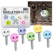 Fred & Friends Skeleton Cool Chimp Rubber Key Cap Covers Toppers Five 5 Color Keychain (1448441)