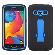 Insten Symbiosis Silicone Dual Layer Rubber Hard Case w/stand For Samsung Galaxy Avant - Black/Blue (1952438)