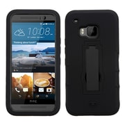 Insten Symbiosis Gel Dual Layer Rubber Hard Cover Case w/stand For HTC One M9 - Black (2092029)