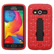 Insten Symbiosis Skin Hybrid Rubber Hard Case with Stand/Diamond For Samsung Galaxy Avant - Red/Black (2101401)