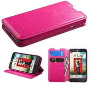 Insten Premium Hot Pink Hybrid TUFF Phone Cover Case For LG Optimus L70 Exceed II Dual D325 (1925975)
